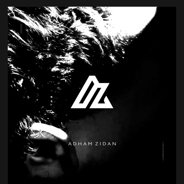 Musician logo with the title 'Clean monogrammatic mark for Adham Zidan'