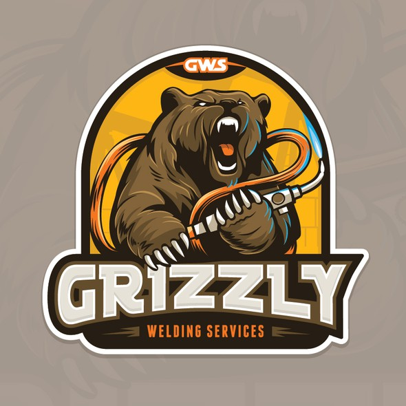Grizzly design with the title 'Grizzly Welding Services'