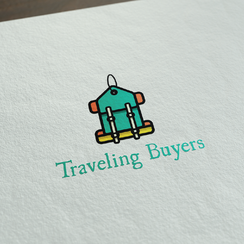 Shopping design with the title 'fun colourful shopping/travel logo'
