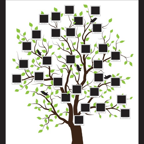 Wall art design with the title 'Family Tree'