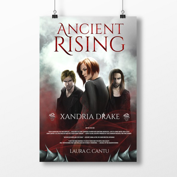 Vampire book cover with the title 'Xandria Drake: Ancient Rising'