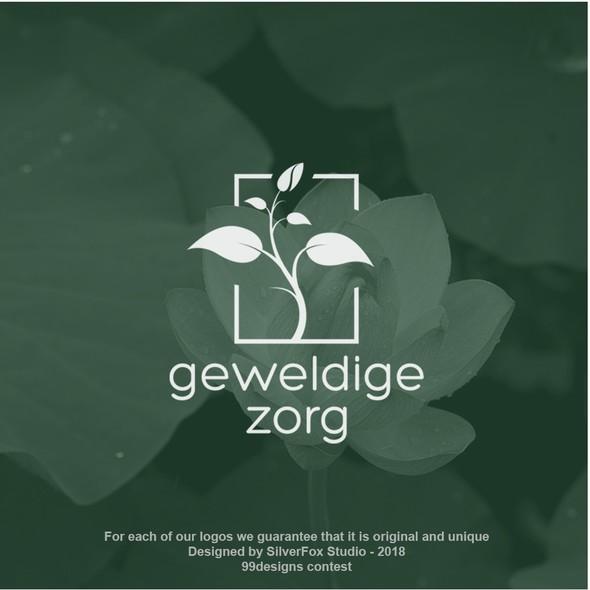 Plant design with the title 'Elegant seedling logo concept'