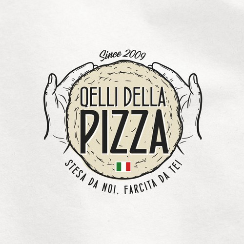 Italian design with the title 'Quelli Della Pizza'