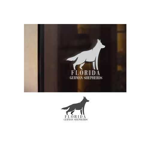 Kennel logo with the title 'Florida German Shepherds'