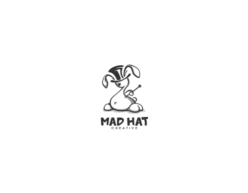 Bunny design with the title 'Mad Hat'