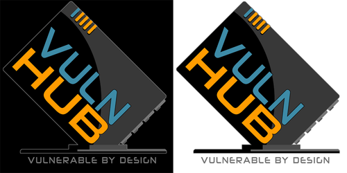 Hacker logo with the title 'VulnHUB Routers'