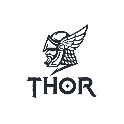Nordic logo with the title 'Thor logo design'