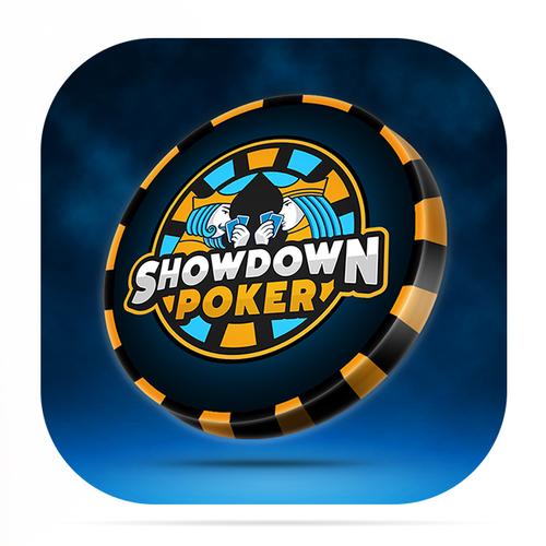 Poker design with the title 'Showdown Poker app icon'
