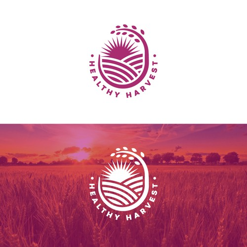 Harvest logo with the title 'Healthy Harvest Logo'