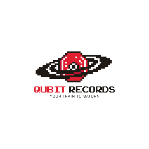 Saturn design with the title 'Qubit Recordings'