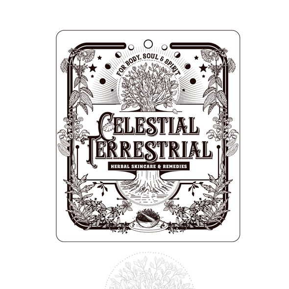 Sage design with the title 'logo for Celestial terrestrial'