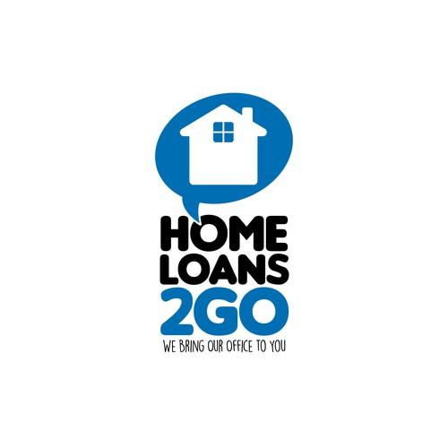 Loan logo with the title 'Logo concepto para HomeLoans2go.com'