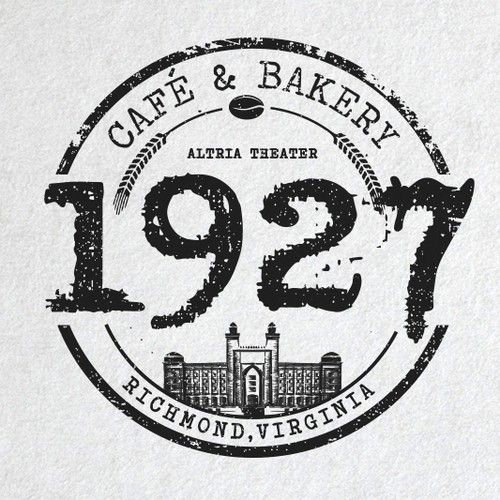 Cafe logo with the title 'Cafe Bakery inside music Venue'