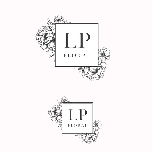 Peony design with the title 'LP floral'