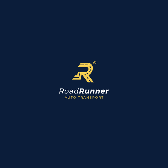 R logo with the title 'Bold minimal logo for Auto Transport Company'