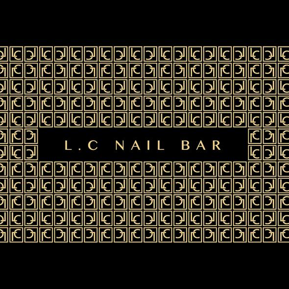 Nail polish logo with the title 'Salon/Nail bar logo contest winner'