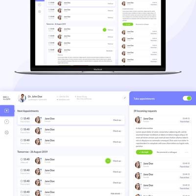 UX-UI Design for a medical software