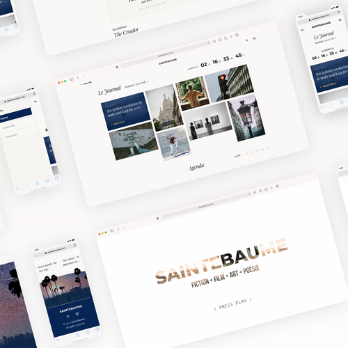 UX/UI website with the title 'Website design for Saintebaume Journal'
