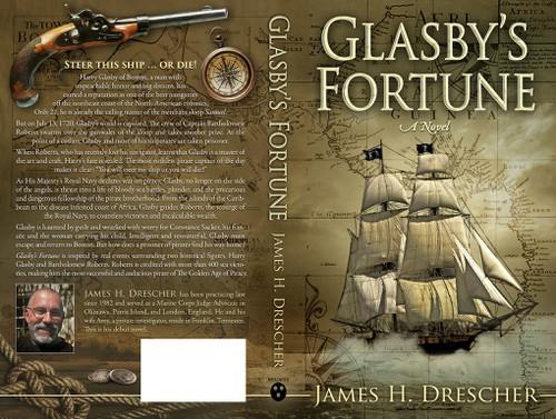 History design with the title 'Book cover for true life adventure--Glasby's Fortune'