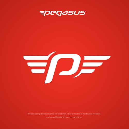 Red logo with the title 'Pegasus Logo'