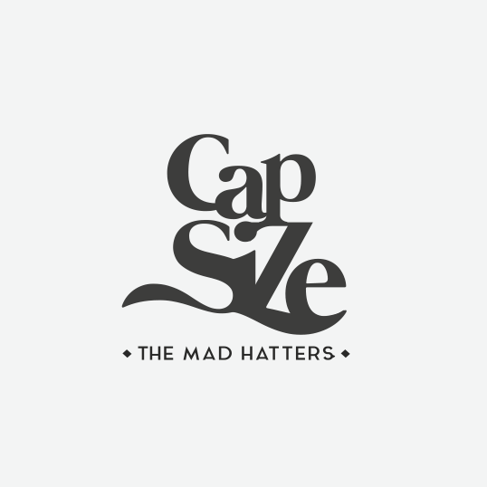 Nebula design with the title 'Logotype the mad hatters!'