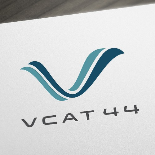 Yacht logo with the title 'Abstract bold logo concept for a company that develops sailing catamarans'