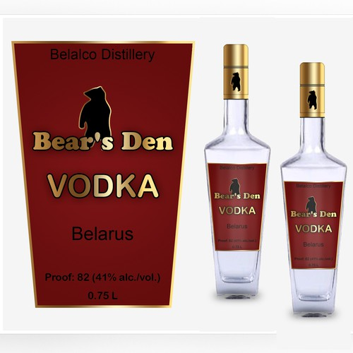 Vodka packaging with the title 'Belalco Distillery'