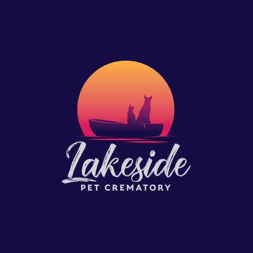 Rising sun logo with the title ' Lakeside Pet Crematory'
