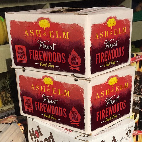 Red packaging with the title 'Firewood Delivery Box'