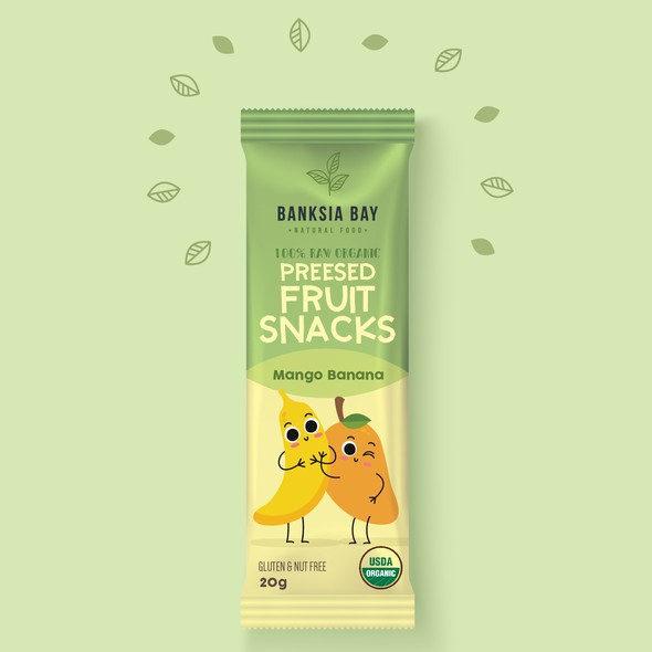 Snacks design with the title 'Kids Fruit Snacks'