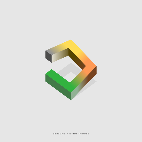 Album logo with the title 'minimalist album cover'