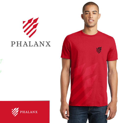 Spear logo with the title 'Phalanx shield'