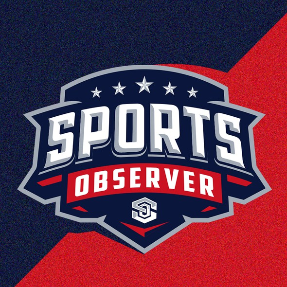 Blue and red logo with the title 'Sports Observer'