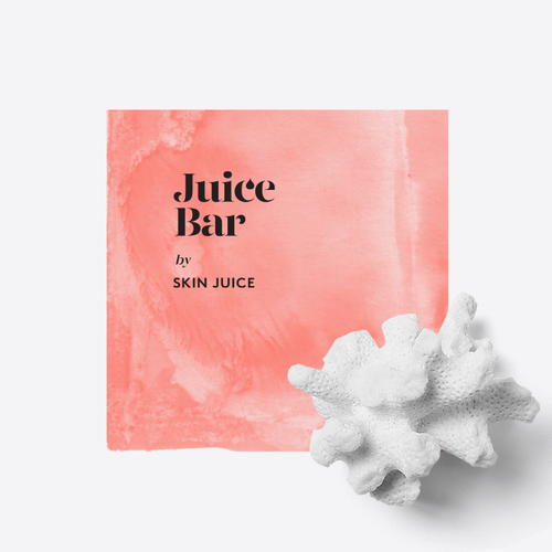 Black and pink logo with the title 'Juice Bar'