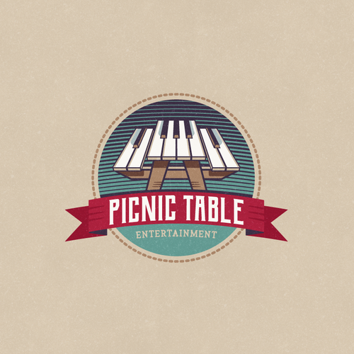 Picnic design with the title 'Logo Concept for Picnic Table Entertainment'