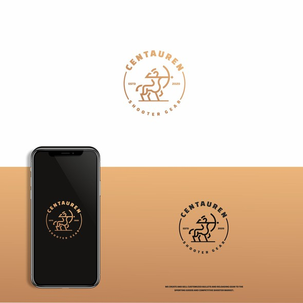 Shooter design with the title 'Centaur logo'