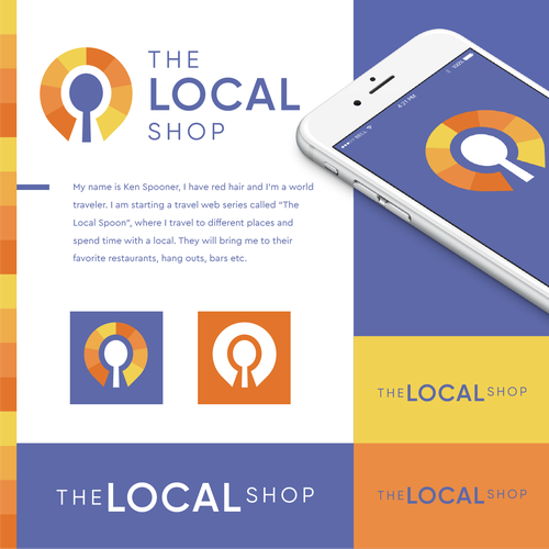 Location logo with the title 'The Local Shop'