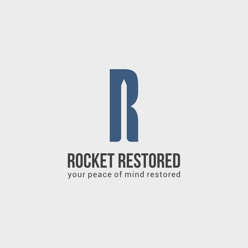 Restoration design with the title 'Rocket restored'