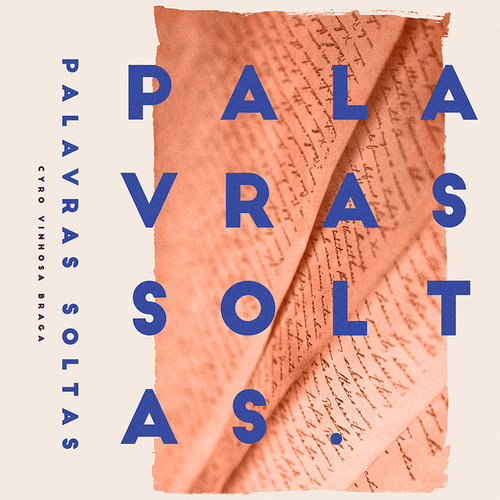 Abstract book cover with the title 'Palavras Soltas'