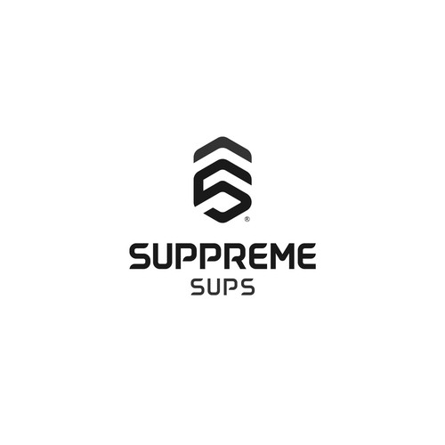 Paddle board logo with the title 'Modern logo for sup board company'