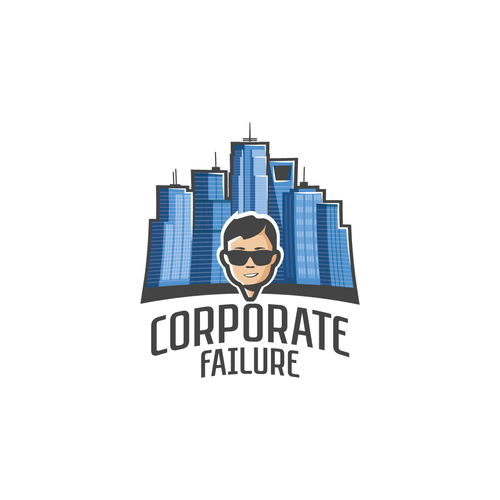 Complex logo with the title 'Logo for Corporate Failure'