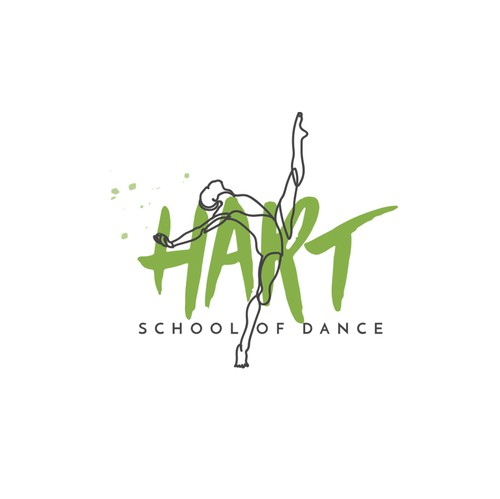 Jazz logo with the title 'Logotype for a school dance'