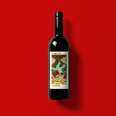 Sangría label design