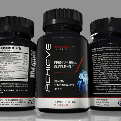 Sleeve design with the title 'BRAIN SUPPLEMENT LABEL'