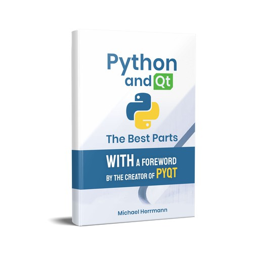 Python design with the title 'Book Cover Page Design'