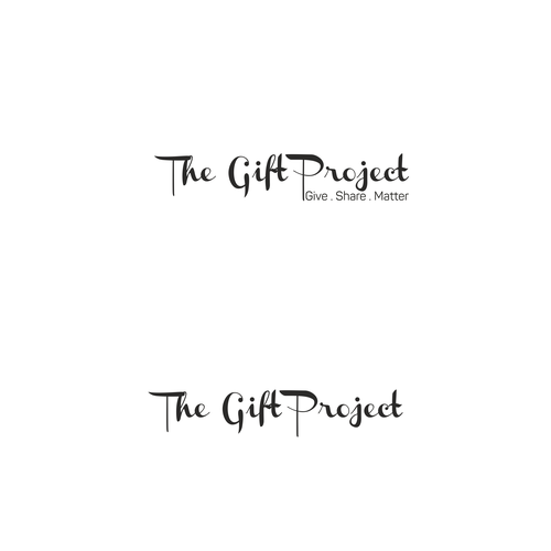 Project design with the title 'Logo for gift company '