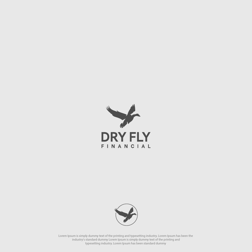 Financial advisor logo with the title 'Dry Fly Financial Logo'