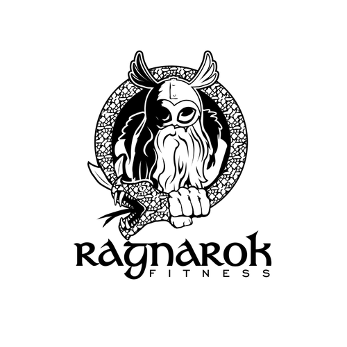 Wicked logo with the title 'Ragnarok/good vs evil/fitness logo concept'