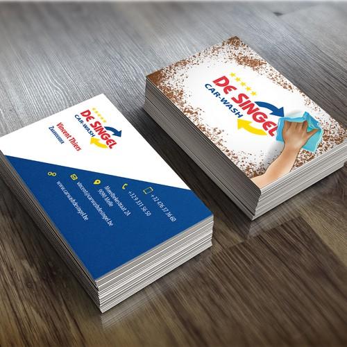 Belgium design with the title 'Belgium Car Wash Business Card Concept'
