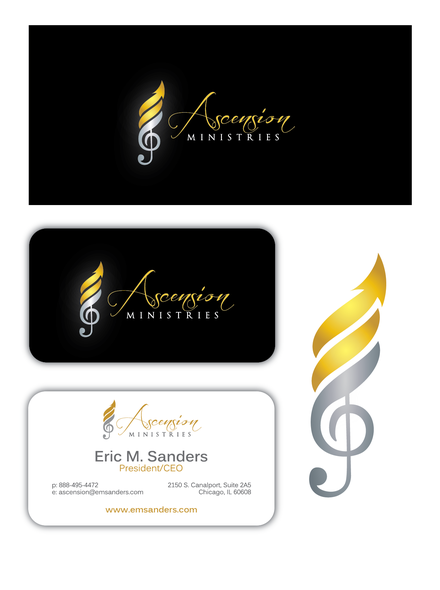 Elevation logo with the title 'Design a Logo & Business Card for Ascension Ministries'